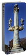 Artistic Lamp Post At The Place De La Concorde In Paris France Portable Battery Charger