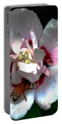 Artistic Shades Of Light And Pollinating Bee Portable Battery Charger