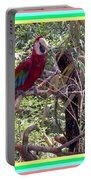 Artistic Wild Hawaiian Parrot Portable Battery Charger