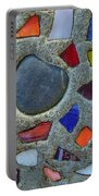 Artsy Glass Chip Sidewalk Portable Battery Charger