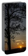 As The Sun Fades Behind The Mountian Portable Battery Charger