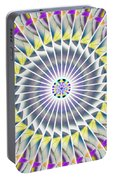 Ascending Eye Of Spirit Kaleidoscope Portable Battery Charger by Derek Gedney