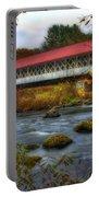Ashuelot Covered Bridge 2 Portable Battery Charger by Joann Vitali