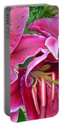 Asian Lily Flowers Portable Battery Charger