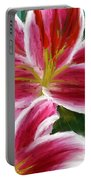 Asiatic Lily- Asiatic Lily Paintings- Pink Paintings Portable Battery Charger