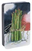 Asparagus In Raffia Portable Battery Charger