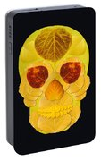 Aspen Leaf Skull 1 Black Portable Battery Charger