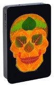 Aspen Leaf Skull 3 Black Portable Battery Charger