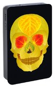 Aspen Leaf Skull 4 Black Portable Battery Charger