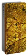 Aspen Leaves Textured Portable Battery Charger