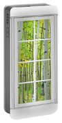Aspen Tree Forest Autumn Time White Window View  Portable Battery Charger by James BO  Insogna