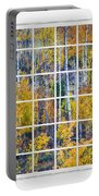 Aspen Tree Magic Cottonwood Pass White Window Portrait View Portable Battery Charger by James BO  Insogna