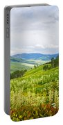 Aspen Trees And Wildflowers Portable Battery Charger
