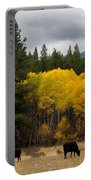 Aspens And Cows Portable Battery Charger