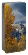 1m9352-aspens In Autumn And The Teton Range Portable Battery Charger