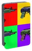 Assault Rifle Pop Art Four - 20130120 Portable Battery Charger
