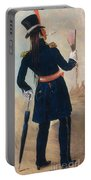 Assiniboine Warrior In Regimental Portable Battery Charger