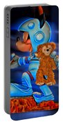 Astronaut Training Bear Portable Battery Charger