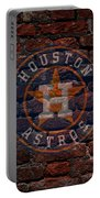 Astros Baseball Graffiti On Brick  Portable Battery Charger by Movie Poster Prints