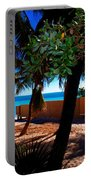 At Dog's Beach In Key West Portable Battery Charger by Susanne Van Hulst