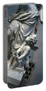 At Her Feet In A Garden Allegory Portable Battery Charger