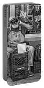 At His Office - Grandpa Elliott Small Bw Portable Battery Charger