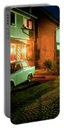 At Night In Thuringia Village Germany Portable Battery Charger