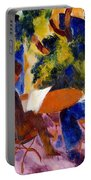 At The Garden Table Portable Battery Charger by August Macke