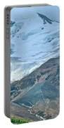 Athabasca Glacier Along Icefields Parkway In Alberta Portable Battery Charger