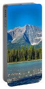 Athabasca River With Mountains Portable Battery Charger
