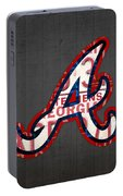 Atlanta Braves Baseball Team Vintage Logo Recycled Georgia License Plate Art Portable Battery Charger