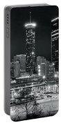 Atlanta Panoramic Black And White Portable Battery Charger