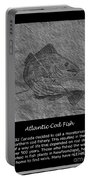 Atlantic Cod Fish Sketch Portable Battery Charger