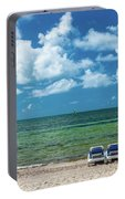 Atlantic Ocean At Smathers Beach In Key Portable Battery Charger