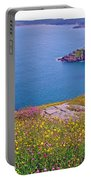 Atlantic Ocean From Signal Hill National Historic Site In Saint John's-nl Portable Battery Charger