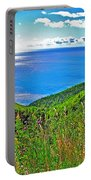 Atlantic Ocean View Point From Cape Breton Highlands National Park-nova Scotia Portable Battery Charger