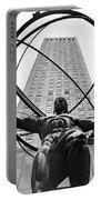 Atlas In Rockefeller Center Portable Battery Charger