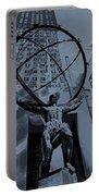 Atlas Rockefeller Center Poster Portable Battery Charger