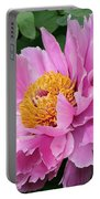 Attractive Pink Peony Portable Battery Charger