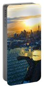 Auckland Oil On Canvaz Portable Battery Charger