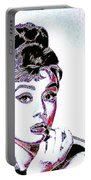 Audrey Hepburn 20130330 Square Portable Battery Charger