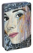 Audrey Hepburn-abstract Portable Battery Charger