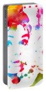 Audrey Hepburn Paint Splatter Portable Battery Charger