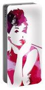 Audrey Pop Art Portable Battery Charger