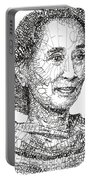 Aung San Suu Kyi Portable Battery Charger
