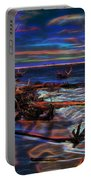 Aurora Borealis Over Florida Portable Battery Charger