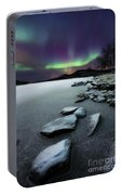 Aurora Borealis Over Sandvannet Lake Portable Battery Charger