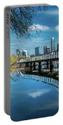 Austin Skyline And Lady Bird Lake - Portable Battery Charger