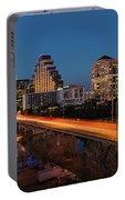 Austin, Texas Cityscape Evening Skyline Portable Battery Charger