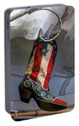 Austin Texas - Red White Blue Sequin Portable Battery Charger